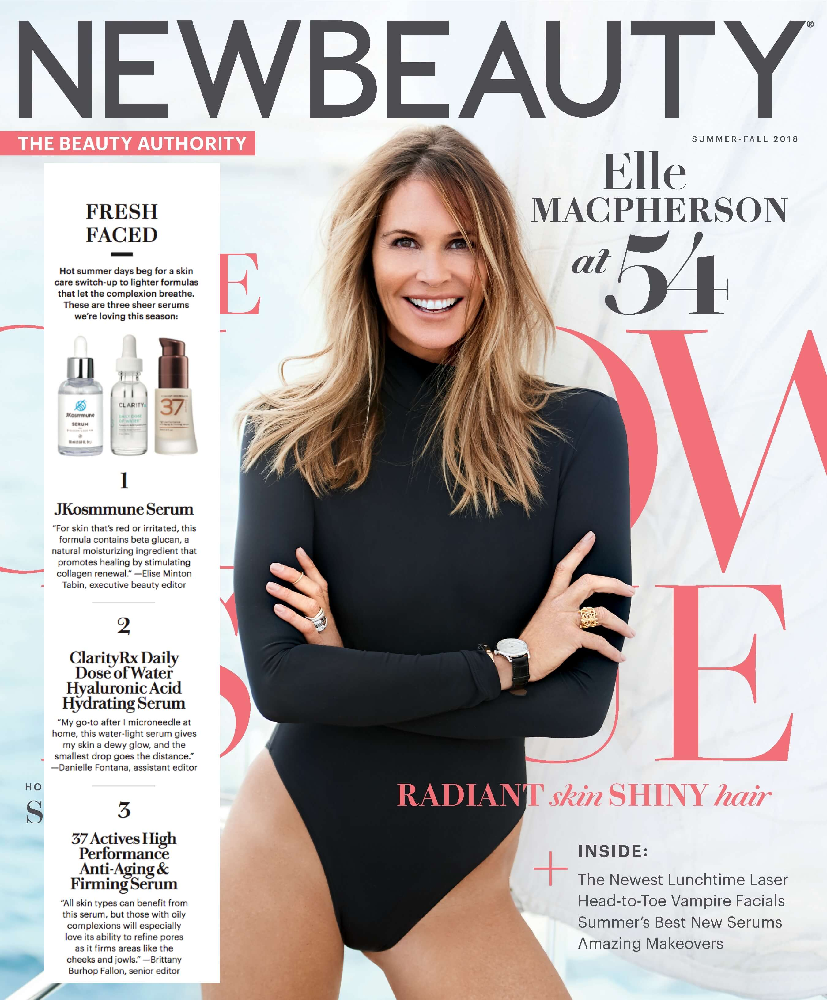 Cover of New Beauty Magazine with article clipping