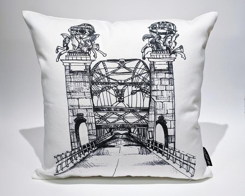 16th Street Bridge Art Accent Pillow
