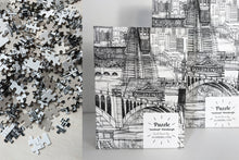 "Load image into Gallery viewer, ""Inclined"" Pittsburgh Collage Collector's Puzzle"