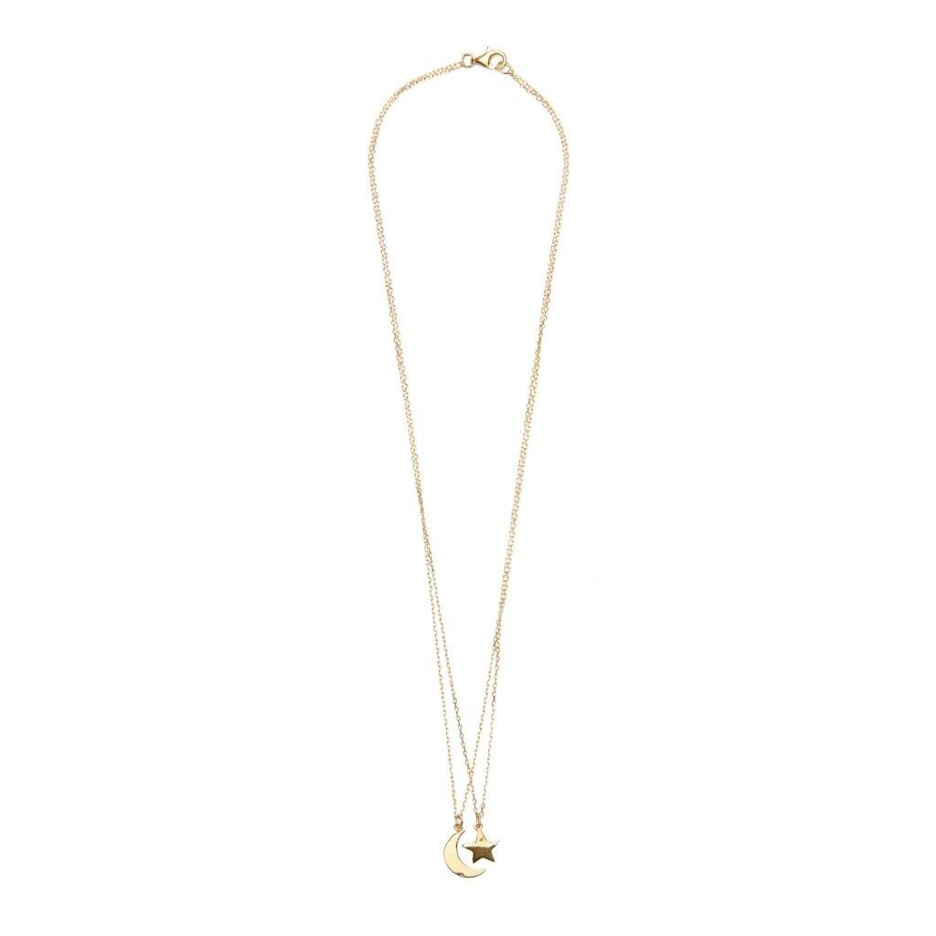 Sample sale gold-plated necklace handmade from Santai.no