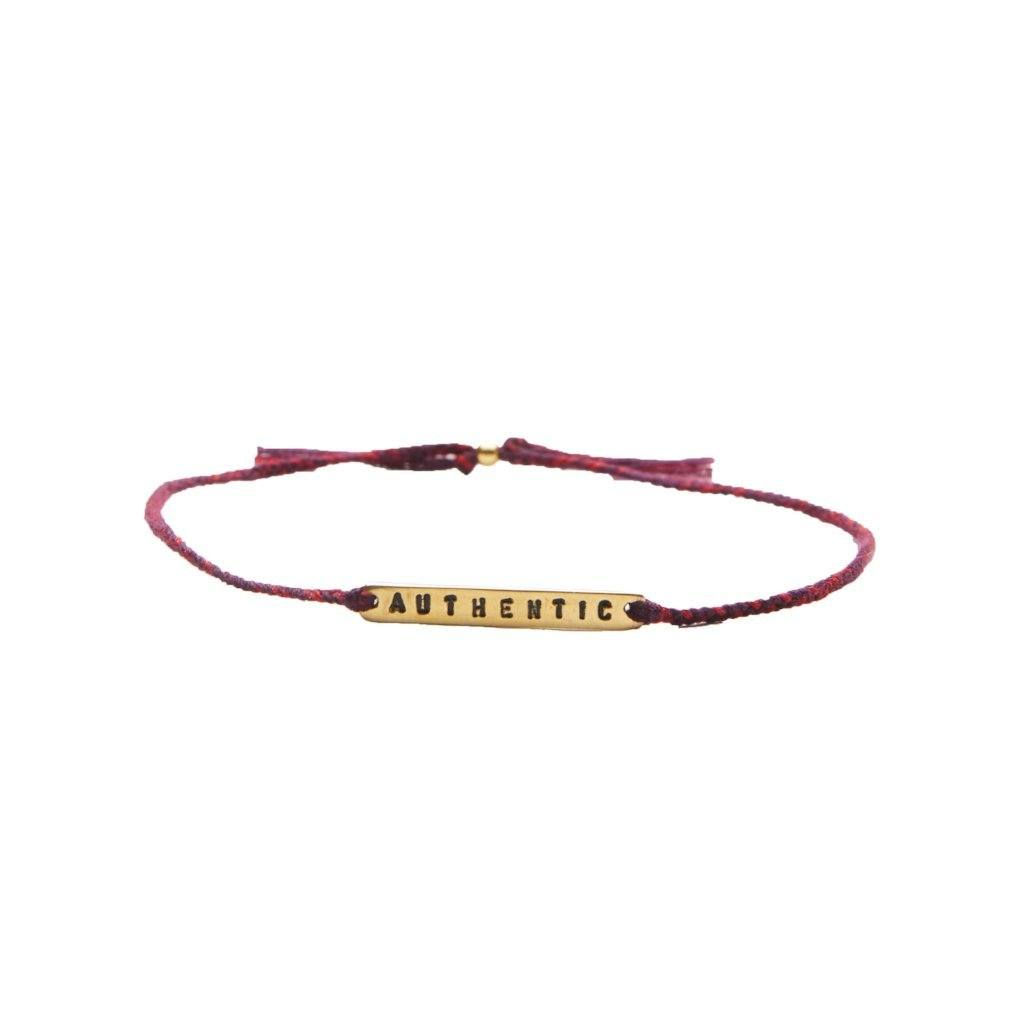 Authentic red mix gold bracelet from santai.no