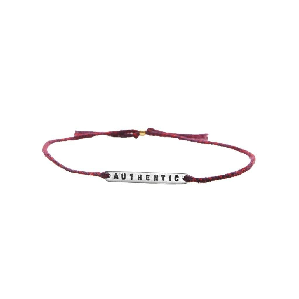 Authentic red mix silver bracelet from santai.no