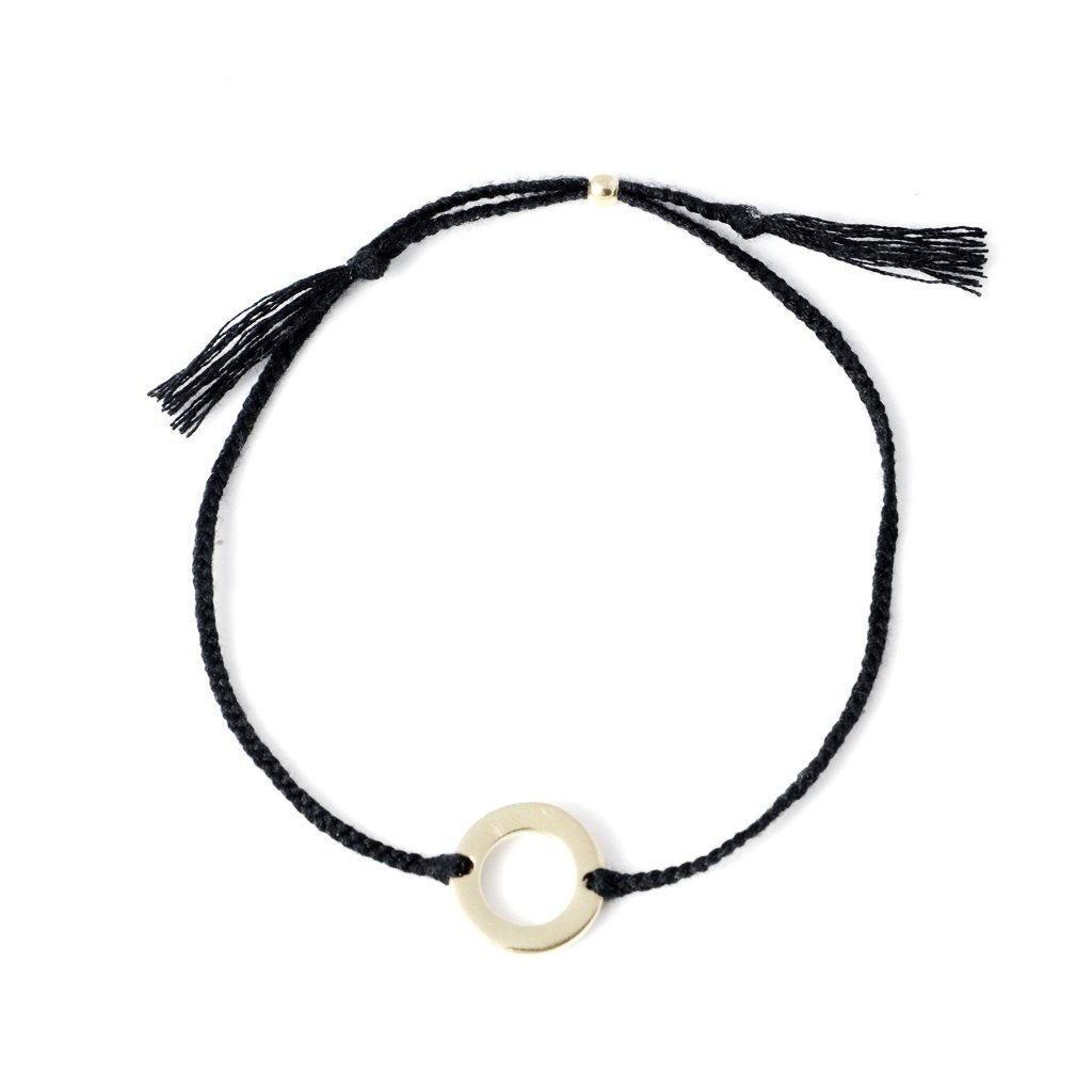 Circle bracelet black gold handmade from Santai.no