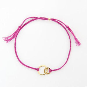 Connected pink gold handmade bracelet from Santai.no