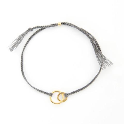 Connected grey gold handmade bracelet from Santai.no