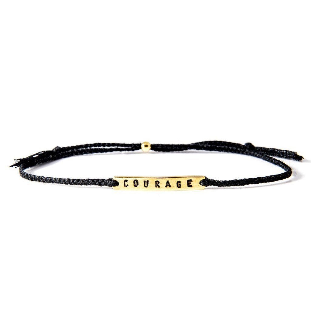 Courage black gold handmade bracelet from Santai.no