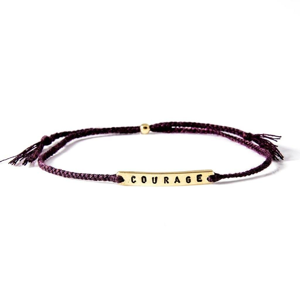 Courage burgundy gold handmade bracelet from Santai.no