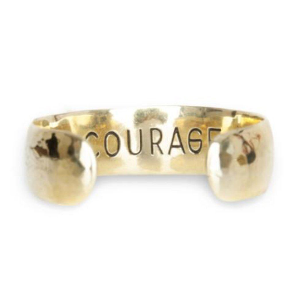 courage brass bracelet handmade from Santai.no