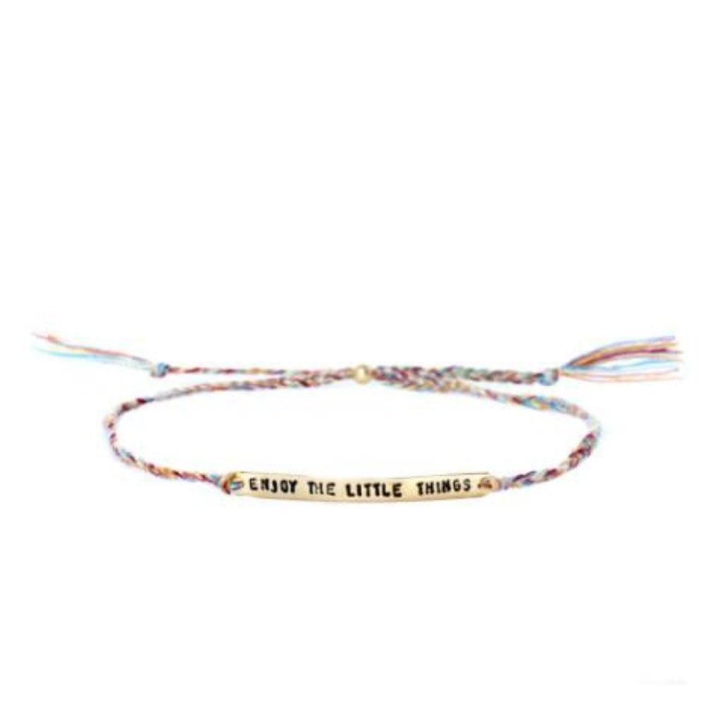 Enjoy the little things  multicolor gold handmade bracelet from santai.o
