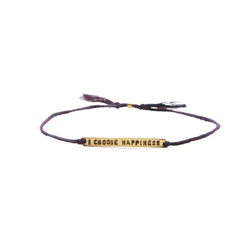 i choose happiness purple mix gold bracelet from santai.no