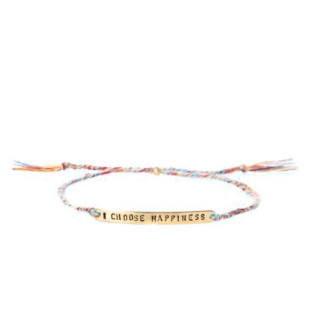 I choose happiness multicolor  gold bracelet from santai.no