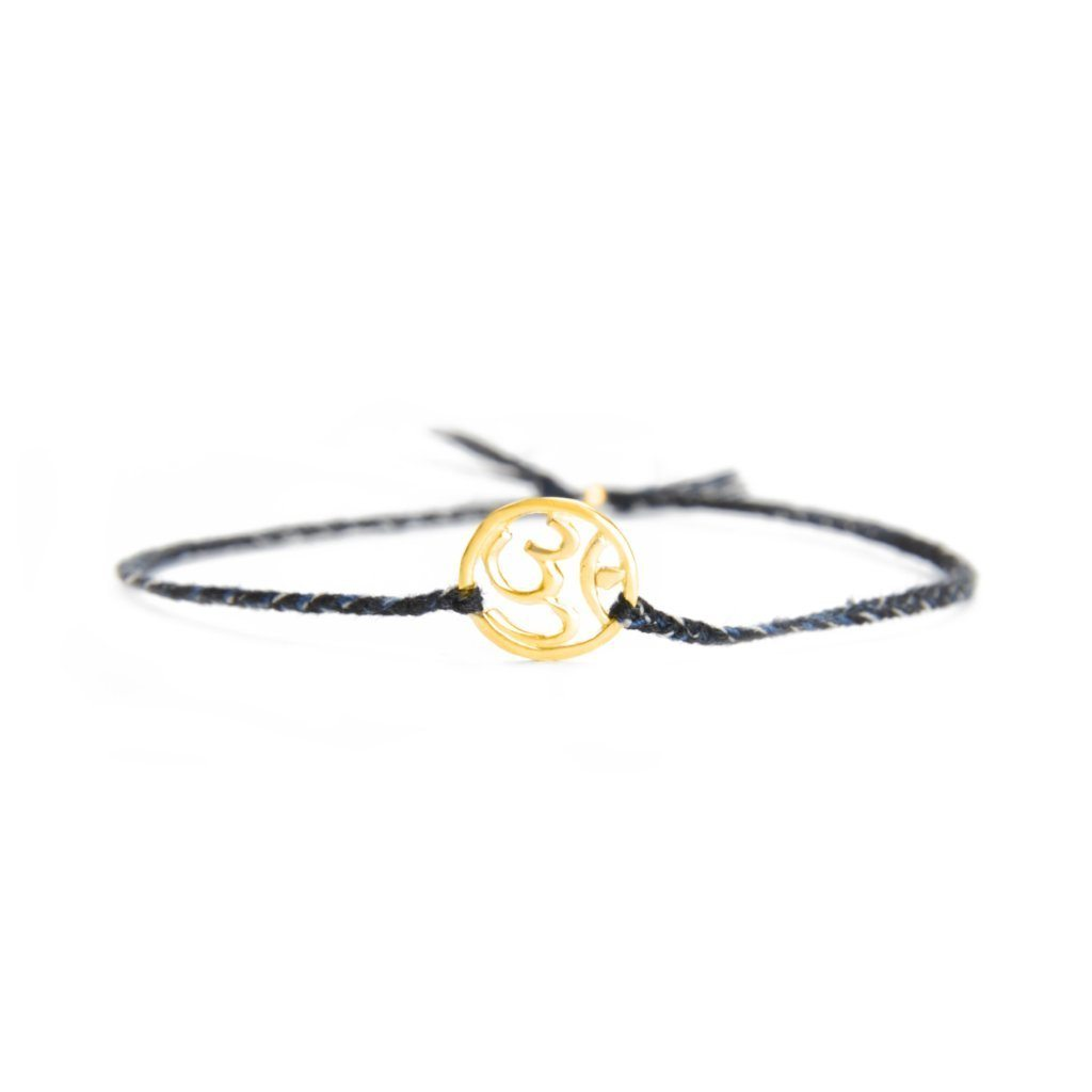 Ohm bracelet black mix silver and gold handmade santai.no