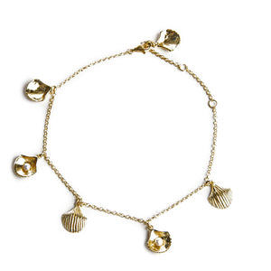 SHELL CHARMS anklet