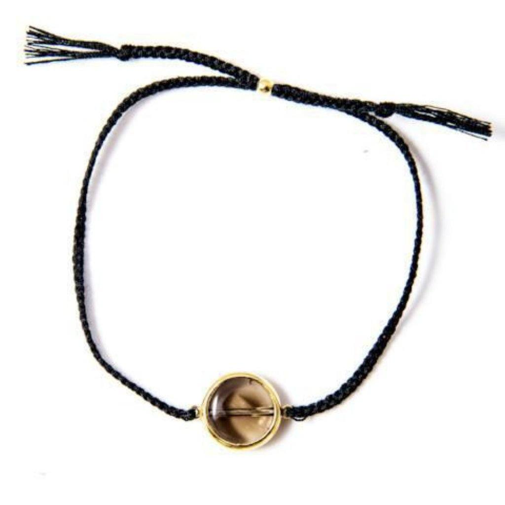 Smokey bracelet black gold handmade from Santai.no