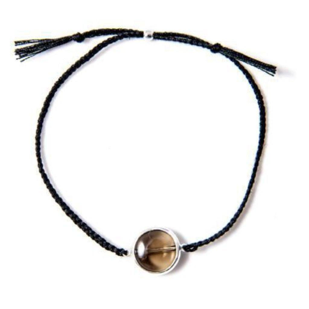 Smokey bracelet black silver handmade from Santai.no