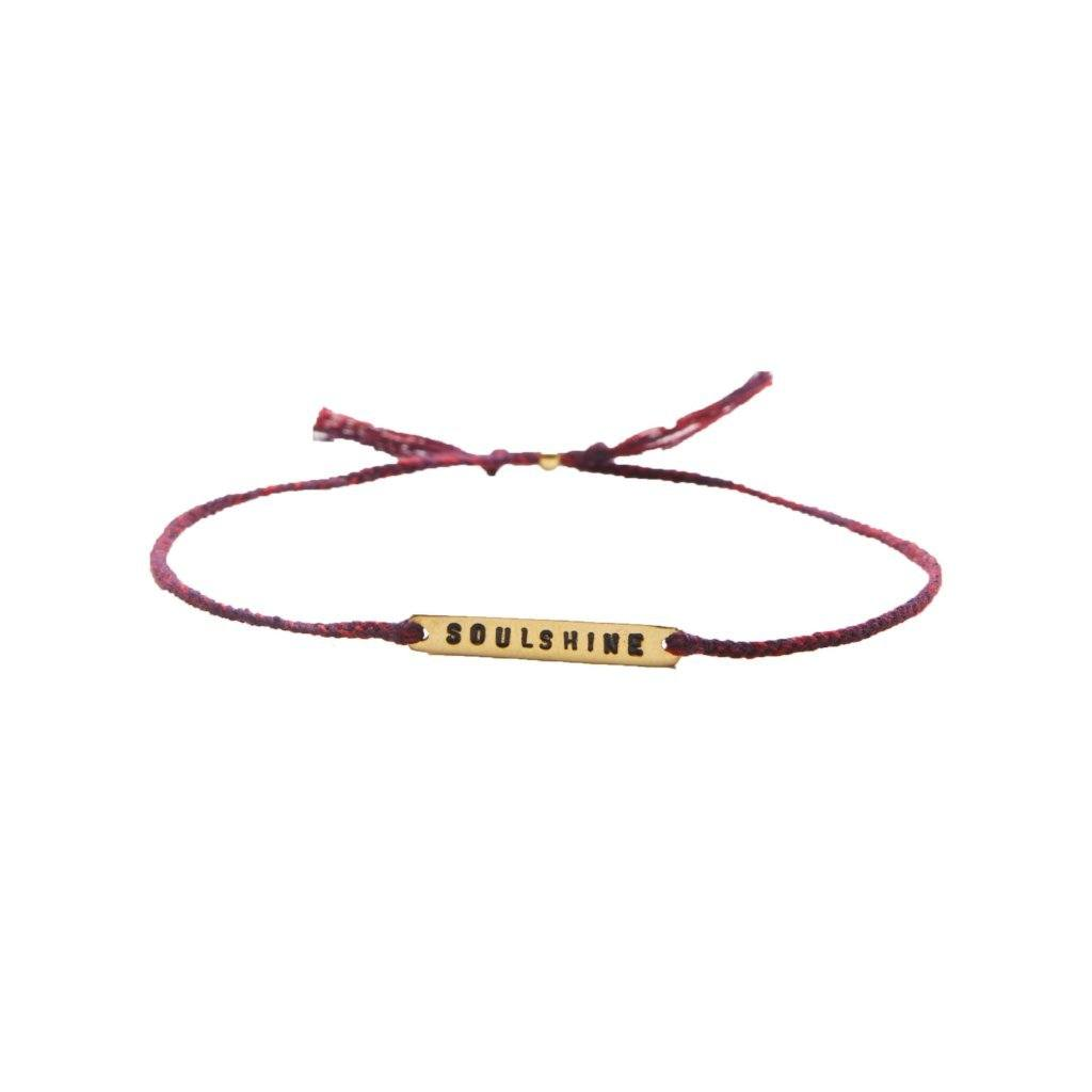 Soulshine red mix gold handmade bracelet from santai.no