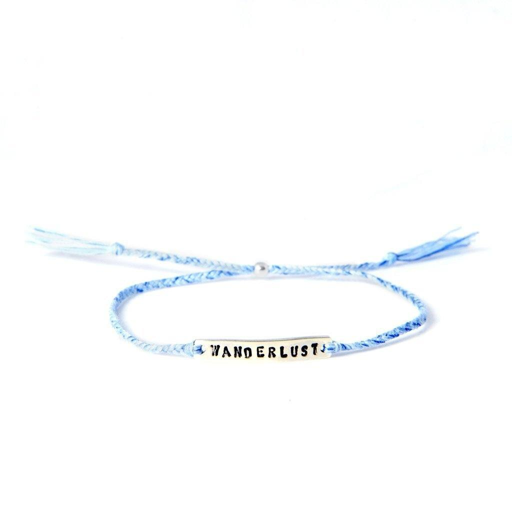 wanderlust lightblue silver handmade bracelet from santai.no