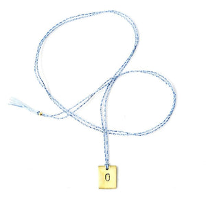 Alphabet necklace - light blue