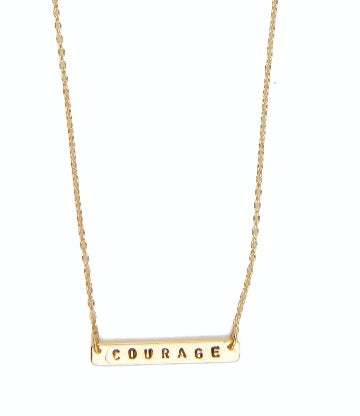 Courage necklace gold from Santai.no