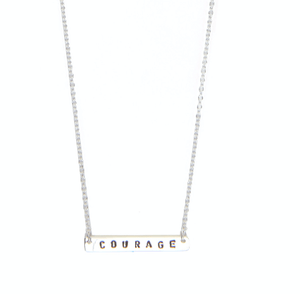 Courage necklace silver from Santai.no