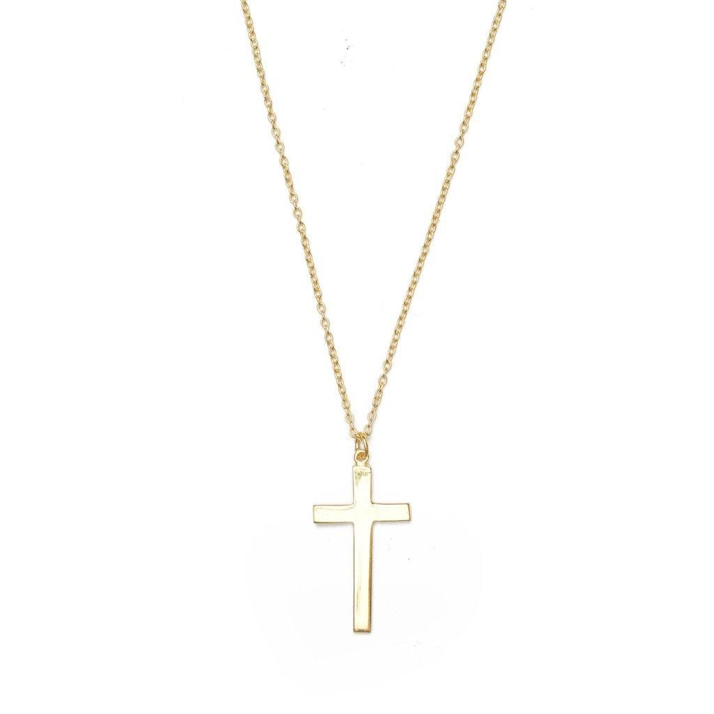 CROSS PLAIN necklace