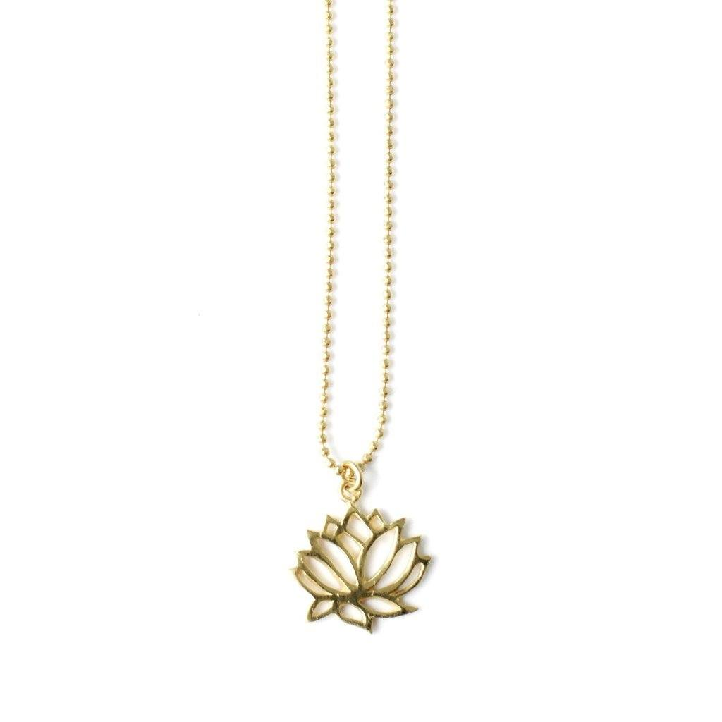 Lotus necklace silver and gold handmade Santai.no