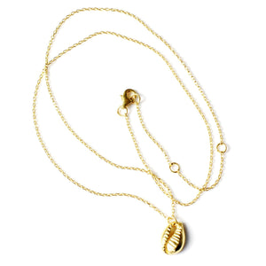 Shell mini necklace silver and gold handmade from Santai.no