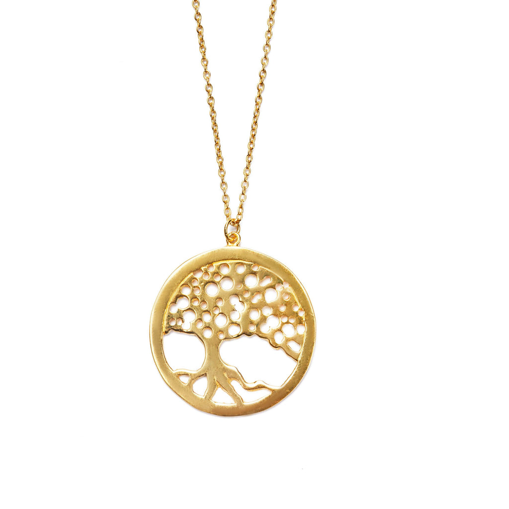 Tree of life amulett necklace gold