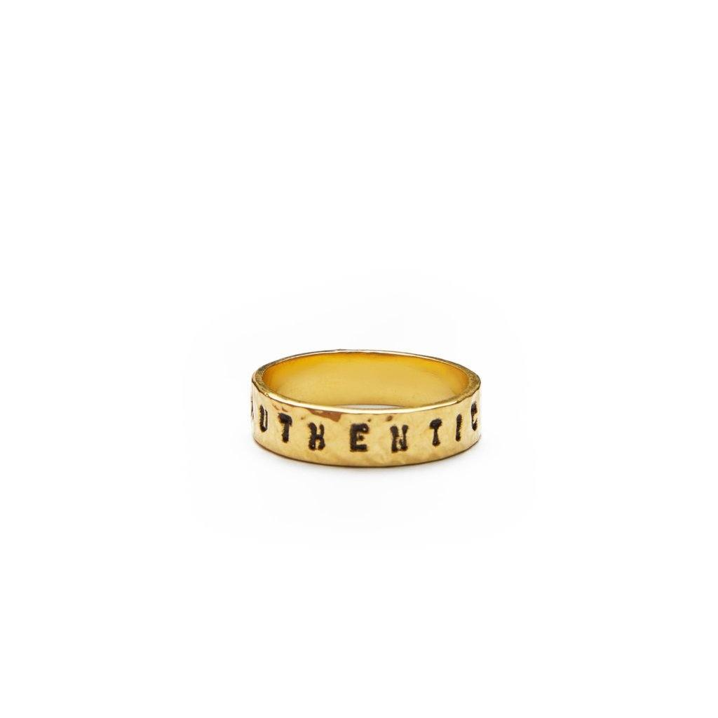 Authentic ring silver and gold-plated from Santai.no