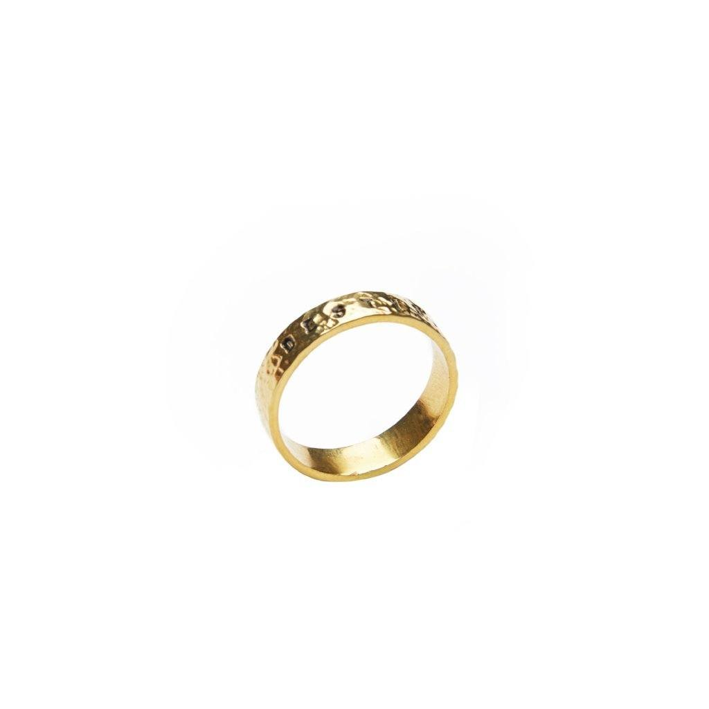 Destiny ring gold-plated handmade From Santai.no