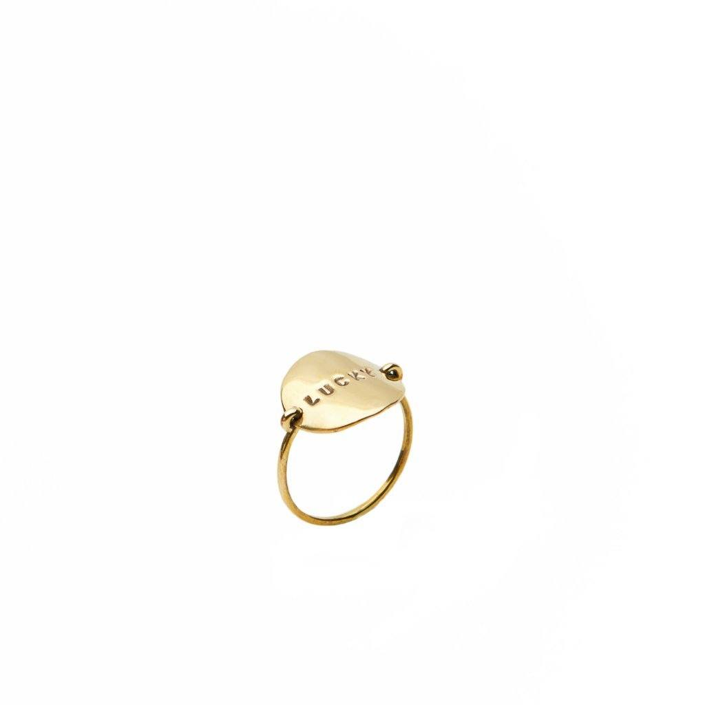 Lucky brass ring handmade from Santai.no