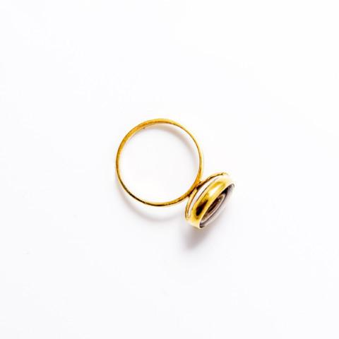 Smokey ring silver and gold-plated handmade from Santai.no