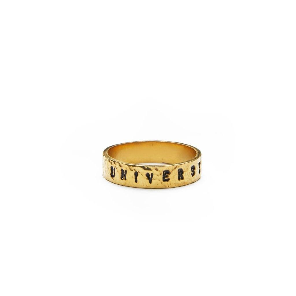 Universe ring gold-plated handmade from Santai.no