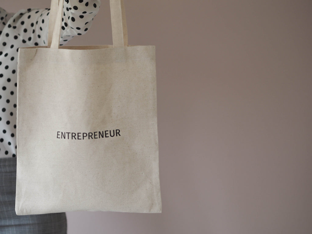 ENTREPRENEUR tote bag handmade from Santai.no