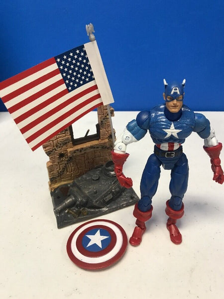 ToyBiz 2002 Marvel Legends Avengers Captain America 6 Action Figure Loose