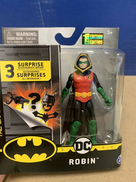 Spin Master DC The Caped Crusader Hooded Robin 4 Inch Action Figure