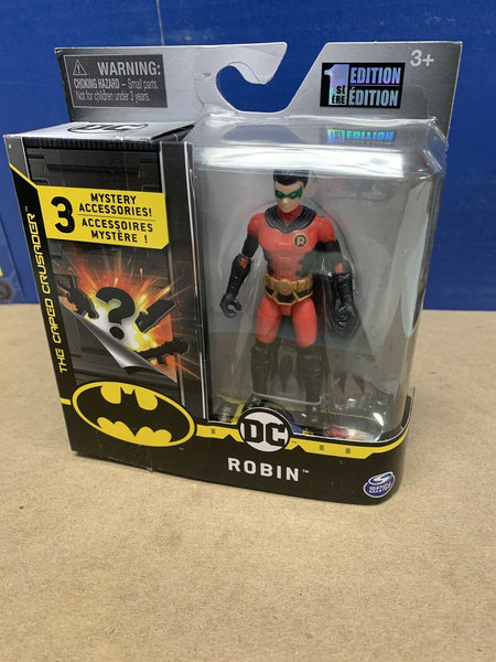 "Robin -Red Costume - Spin Master DC Batman Caped Crusader 2020 4"" Action Figure"