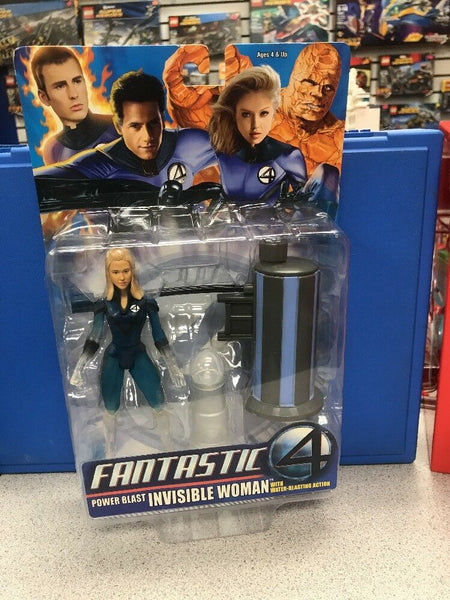 "ToyBiz 2005 Marvel Fantastic Four Power Blast Invisible Woman 6"" New"