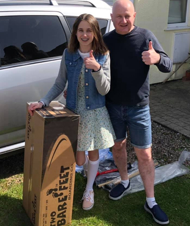 Congratulations to Ron Luker and daughter Emilia who won the Paddleboard