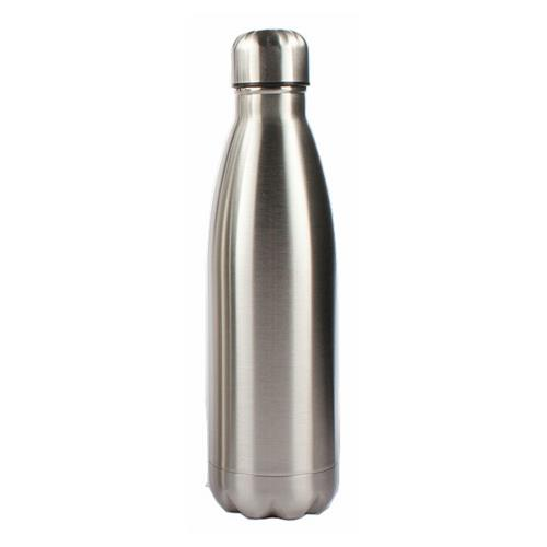 Brushed stainless steel 500ml double wall thermos bottle