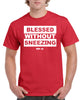 BLESSED WITHOUT SNEEZING UNISEX TEE