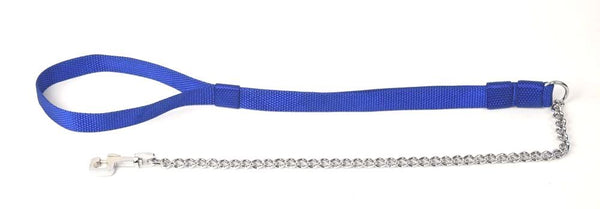 Kennel Chain Lead Medium Thick with Nylon Handle