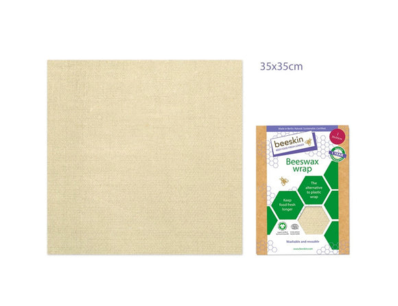 Bijenwasdoek Large - 35x35 - Natural print - Beeskin