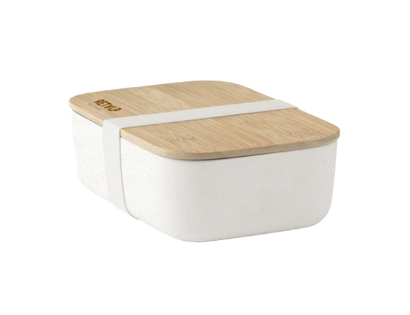 Eco Lunchbox met bamboe deksel - Wit - Retulp