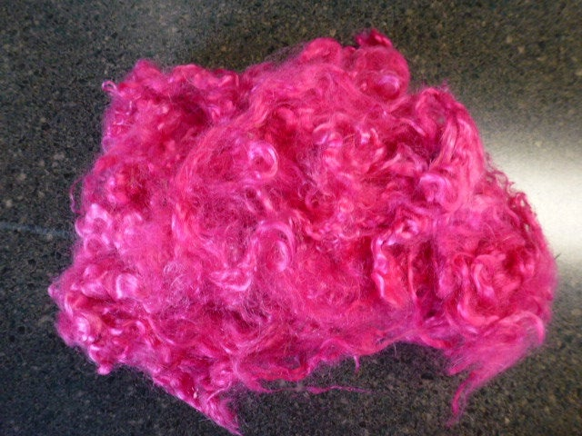 Pink Hand Dyed Mohair  One Ounce