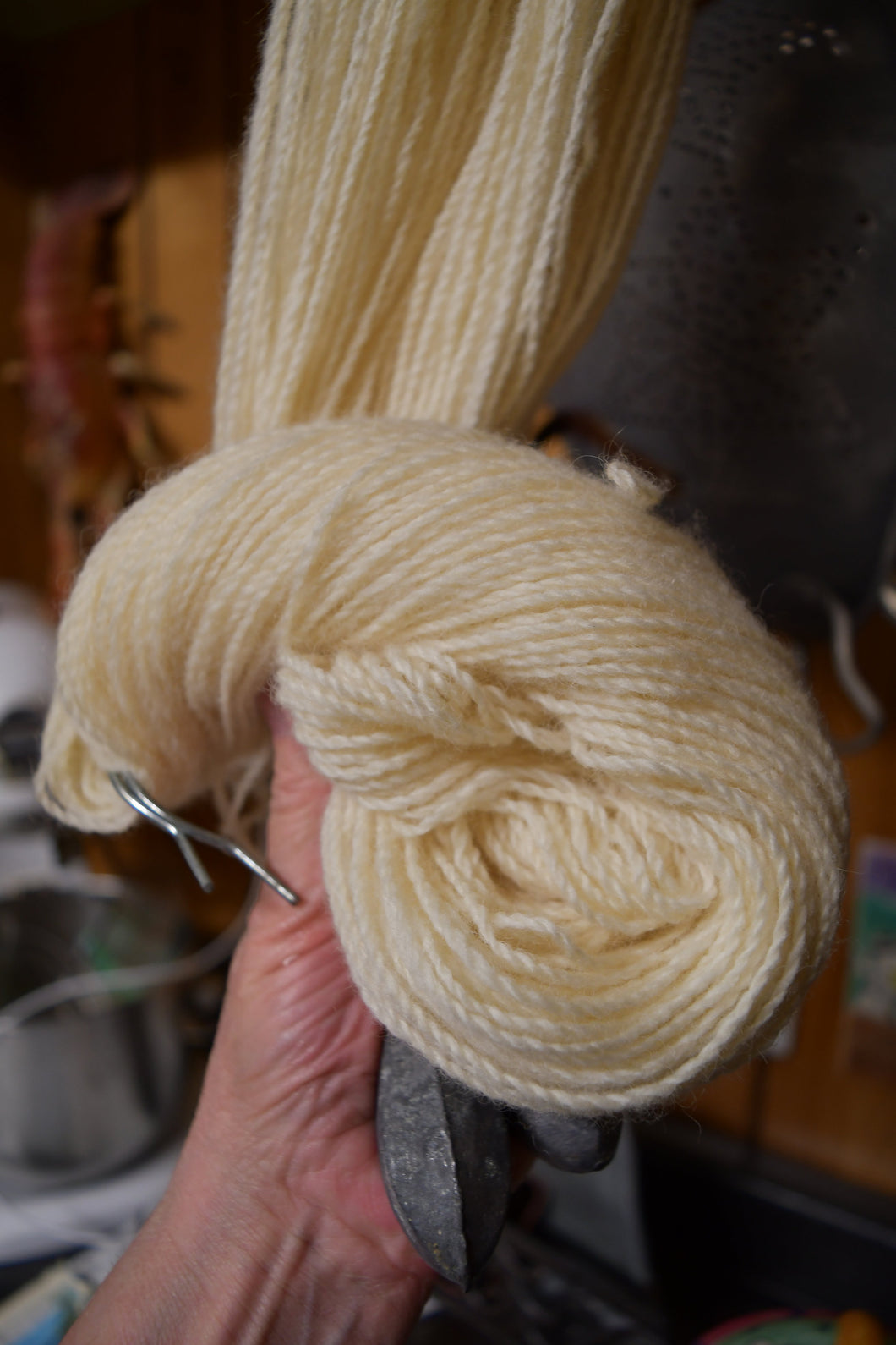 Corry X Finger Weight Mill Spun Yarn Ecru #3  Product of the USA