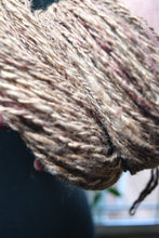 Load image into Gallery viewer, Big Mix Gold Merino Silk Angelina Hand Spun Yarn 3.20 ounces