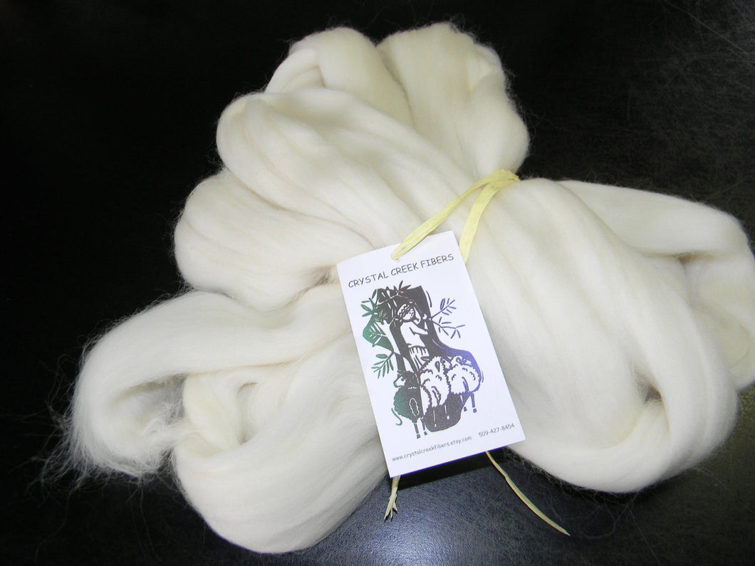 Snow White Rambouillet Top  Two Ounces Product of the USA