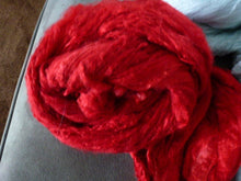 Load image into Gallery viewer, Really Red Hand Dyed Mulberry Silk Top 4 Ounces