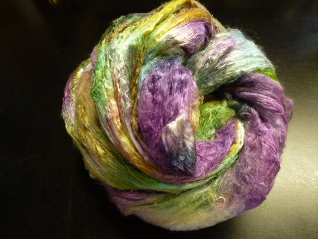Iris Hand Dyed Mulberry Silk Top 2 Ounces